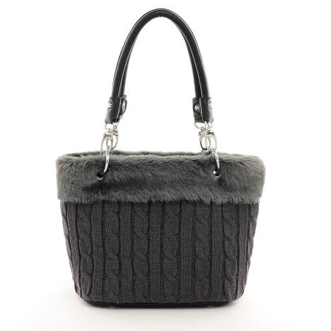 1冬日新款温暖毛线编织兔毛手提包女包55139