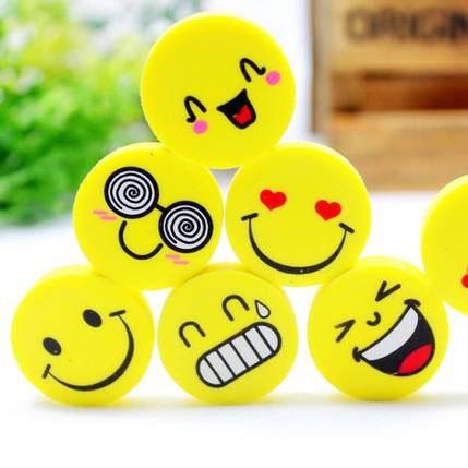 韩国创意文具批发 可爱笑脸表情橡皮擦 小学生奖品 学习用品 22g