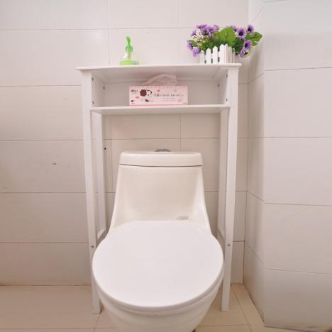 韩式田园简易马桶架卫生间马桶柜子马桶边柜现代木