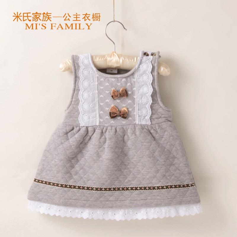 韩版女童连衣裙婴儿童装蕾丝花边背心裙宝宝纯棉公主