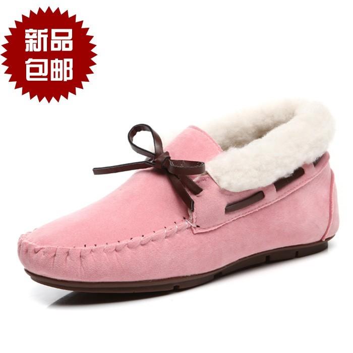 豆豆鞋二棉鞋女搭配图片