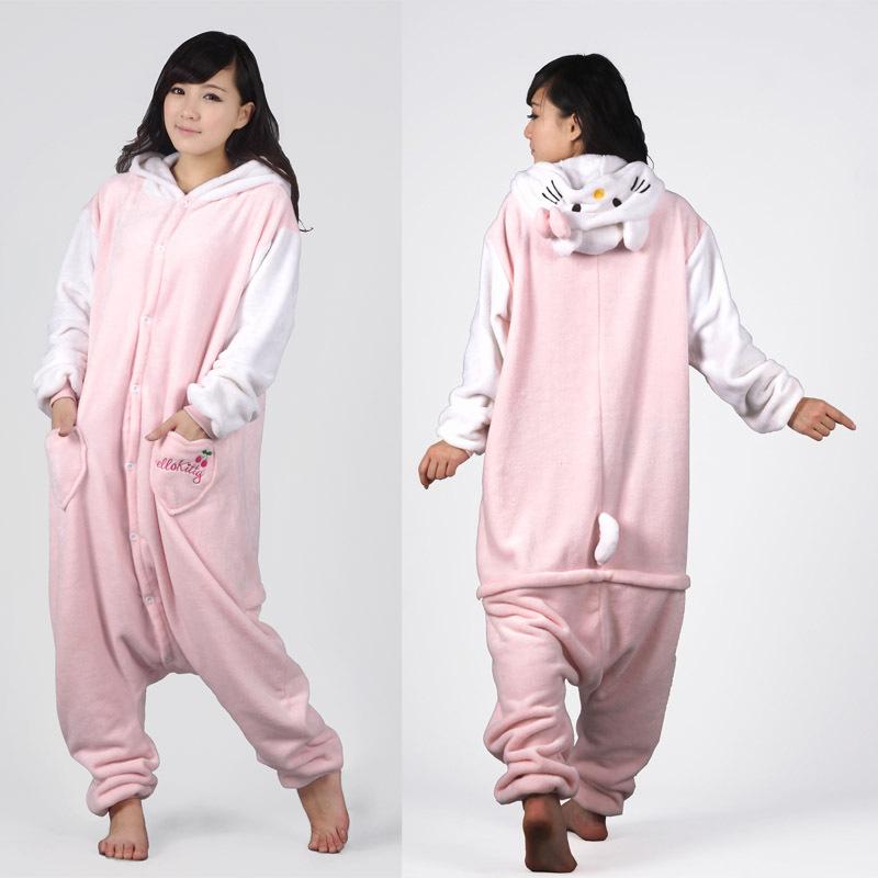 新款法兰绒连体动物睡衣