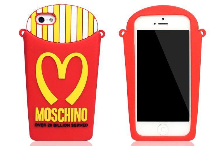 moschino二代麦当劳苹果手机壳iphone5/5s硅胶项链套包包5s挂链包磨砂皮绳薯条图片