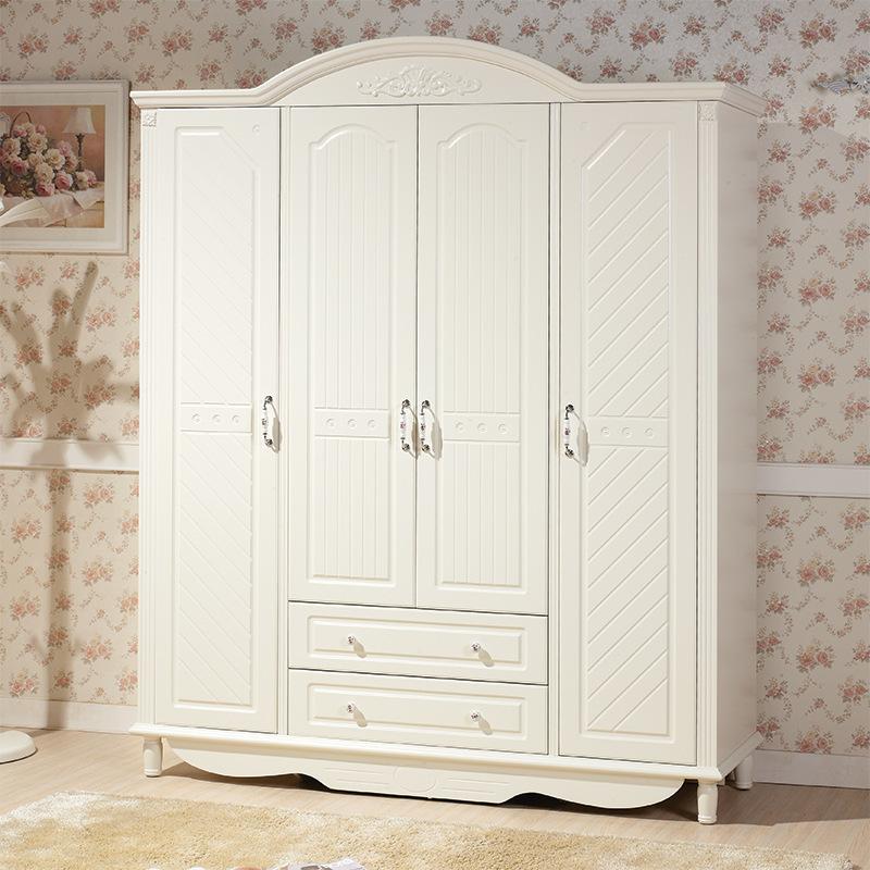 厂家直销欧式家具组合四门组装衣柜大号衣柜时尚衣柜