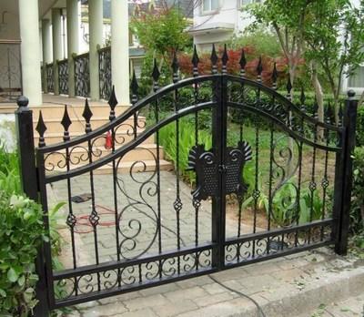 欧式别墅铁艺大门家庭院门小区单元双开移门公园厂房 围栏花园门