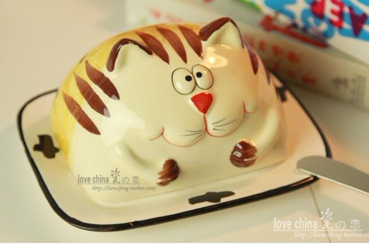 可爱猫咪 点心面包.蛋糕盘,黄油盘. - 蘑菇街