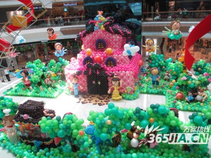 """合肥天鹅湖万达广场""""糖果气球节"""" 可爱气球造型萌翻全场."""