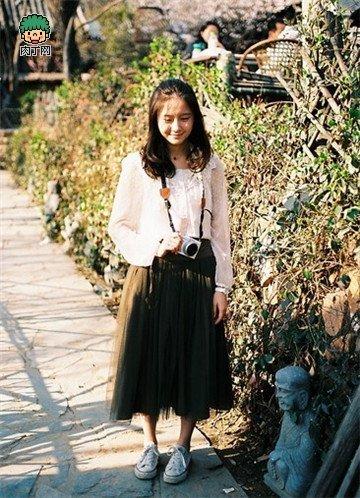 穿衣搭配攻略 文艺女青年的最爱图片