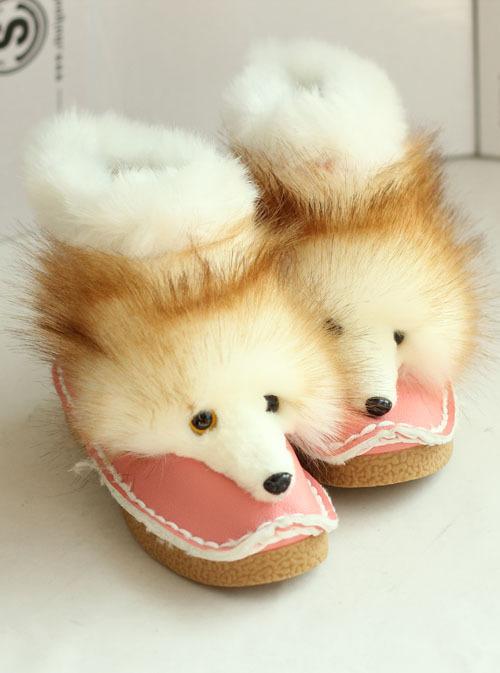 可爱狐狸头雪地靴