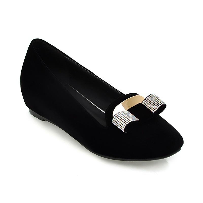 蕾丝蝴蝶结钩针花边棉针织护腿靴袜(黑色)