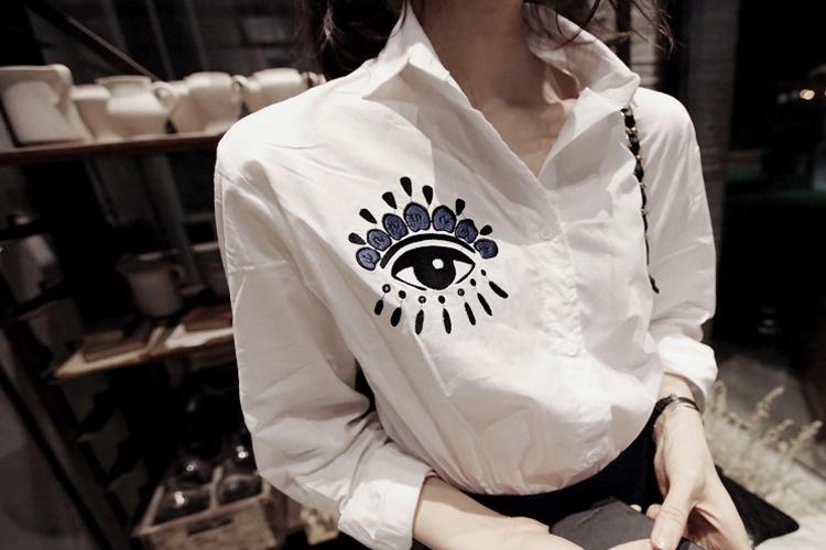 个性眼睛图案潮流衬衫图片