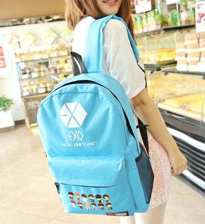 韩版明星EXO双肩背包 来自蘑菇街优店