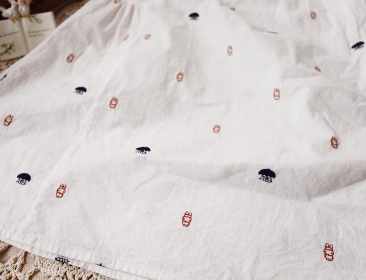 海洋小动物刺绣短袖t