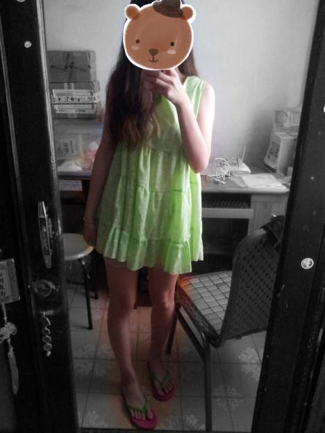 花纹很好看,就是裙子稍微有点短