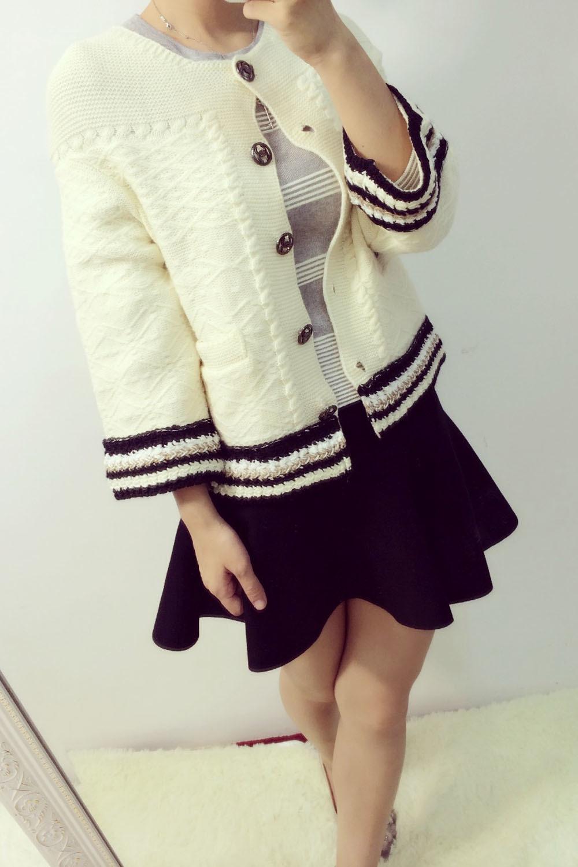 配米色毛衣搭配图片_配米色毛衣怎么搭配