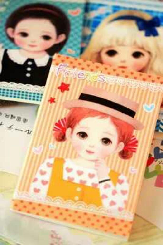 超萌可爱洋娃娃小本子尺寸:1