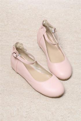 日系甜美荷叶花边小清新单鞋