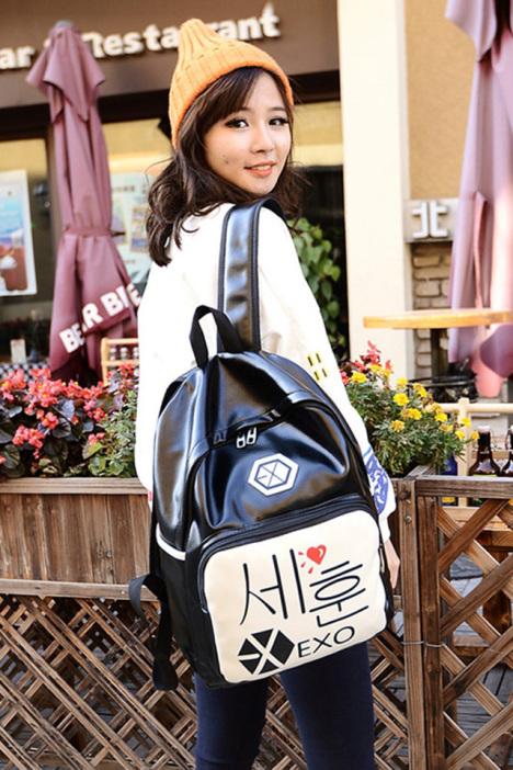 EXO学院风双肩包 -包包 双肩包 服饰鞋包 箱包皮具 女包 男包 城中潮包