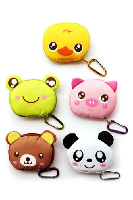 韩版卡通可爱小动物购物袋