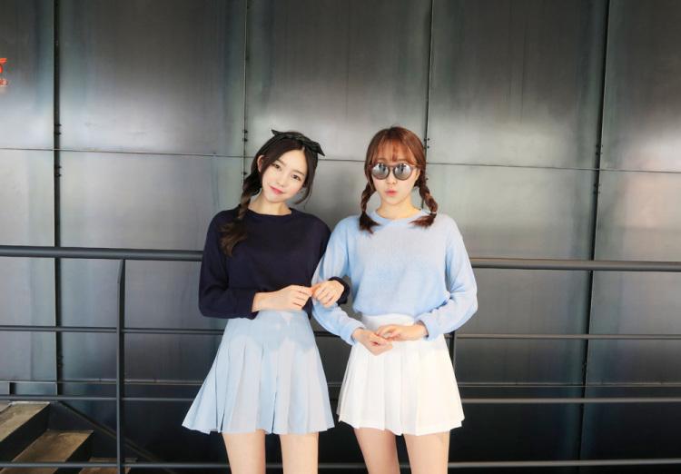 【韩国闺蜜装百褶半身裙】-衣服-半身裙