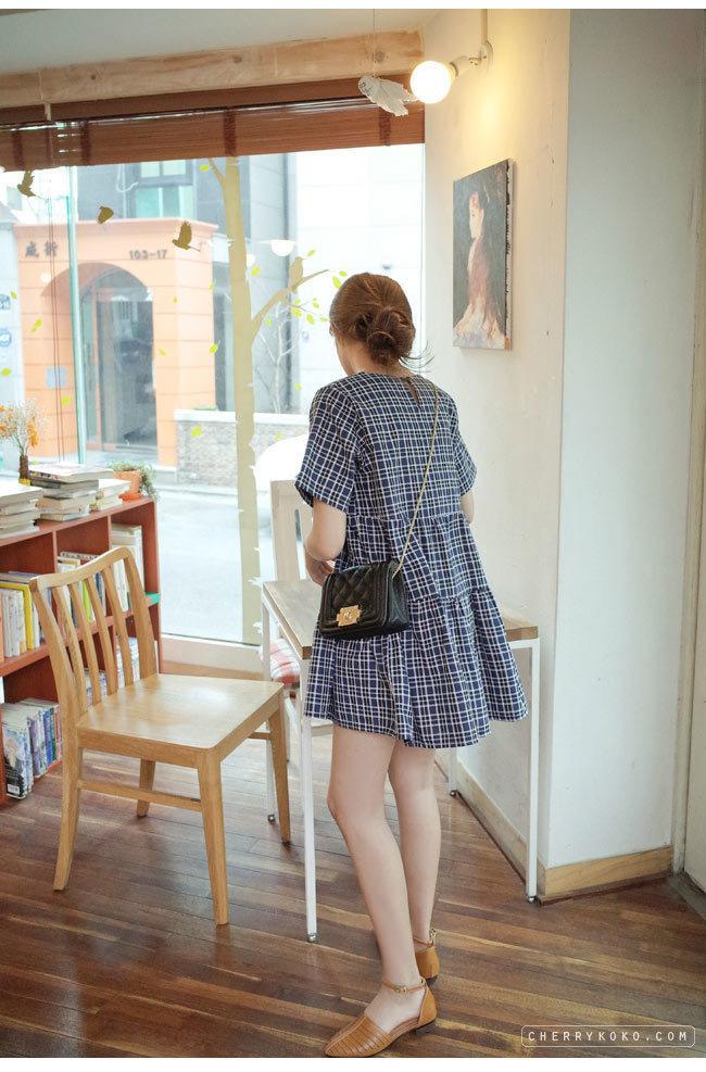 韩国简约复古风可爱娃娃裙