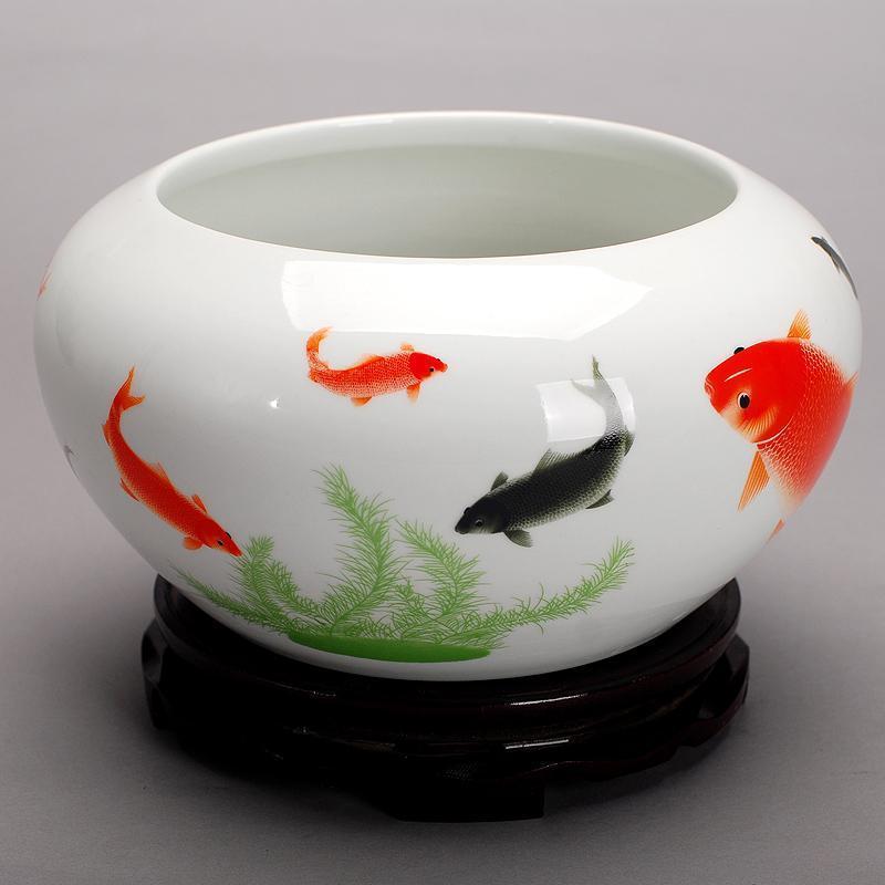 102景德镇陶瓷鱼缸养鱼盆 七