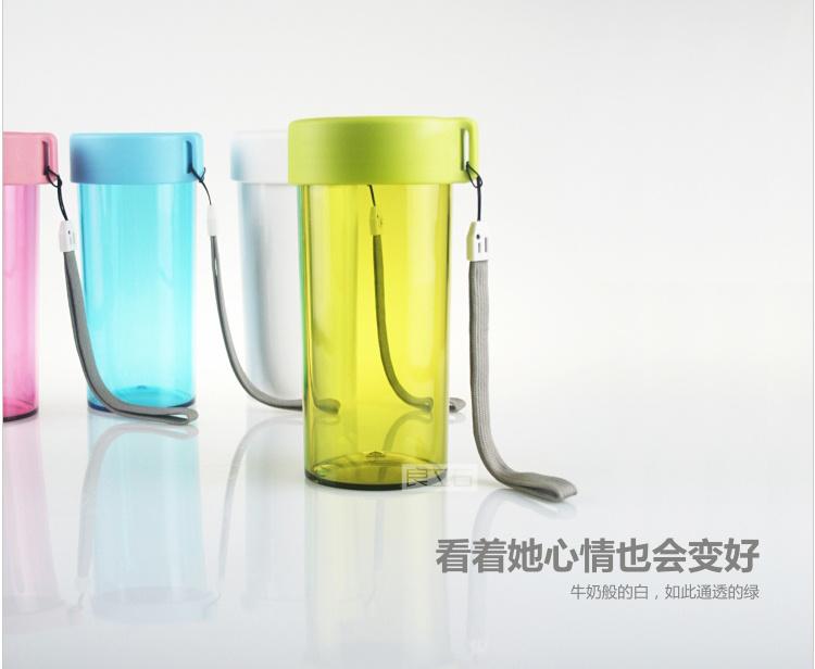 【350ml塑料提绳旅行杯】-家居-百货