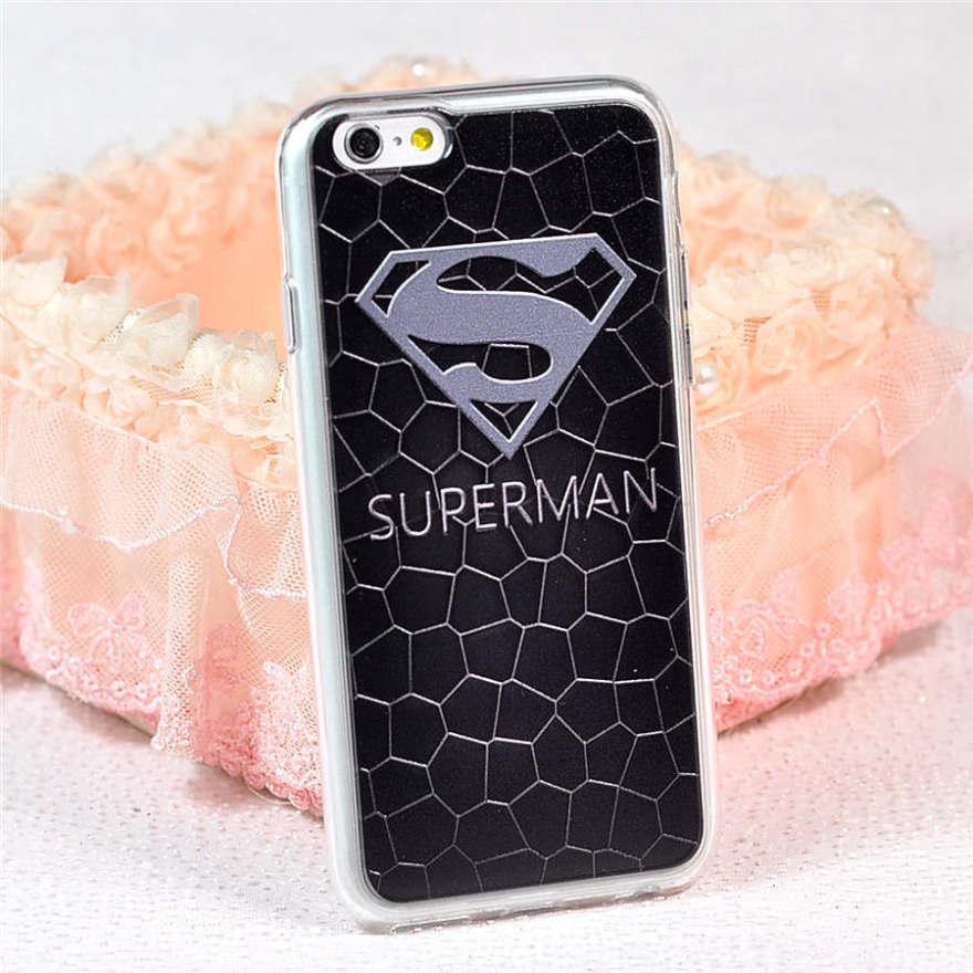 欧美超人情侣浮雕全包苹果手机壳