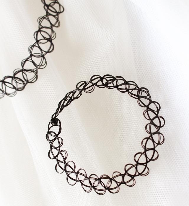 【欧美纹身编织鱼线 项圈手链戒指】-配饰-配饰