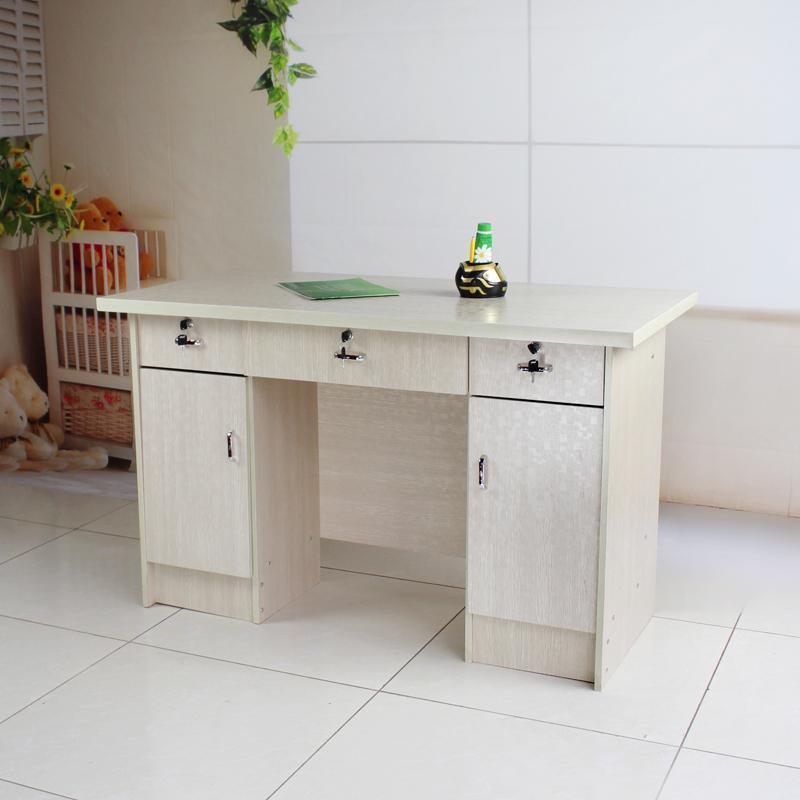 双皇冠 家用 办公 简易 台式 电脑桌 写字台 1.2米板式落地办公桌