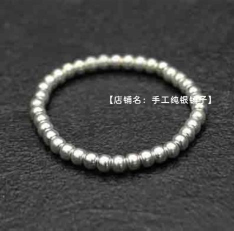 【2mm银珠戒指尾戒】-无类目-配饰