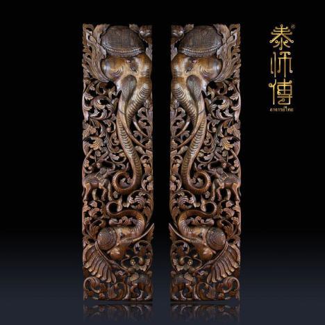 【【泰师傅】泰国手工木雕原木戴帽】-无类目--泰