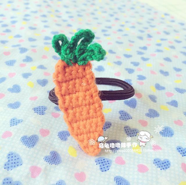 乌龟噜噜妹手作 胡萝卜发圈