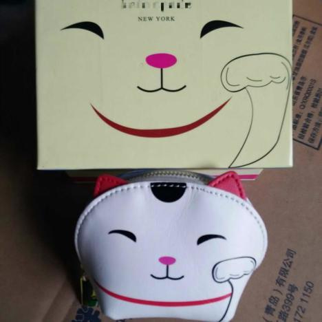 【k招财猫零钱包 卡通小猫钱包