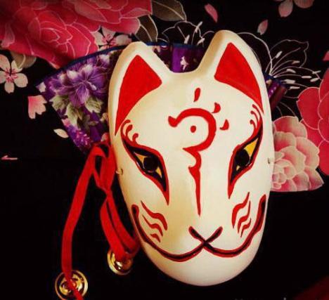 【手绘cos面具 手绘纸浆狐狸面具】-无类目-百货