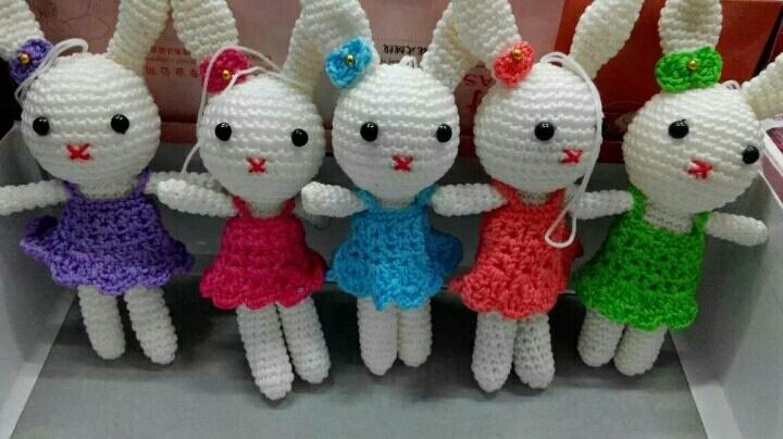 纯手工钩织各种小动物,可做挂饰