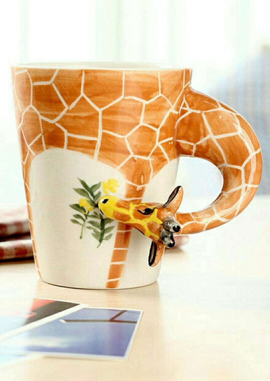 3d立体感可爱纯手绘麋鹿 长颈