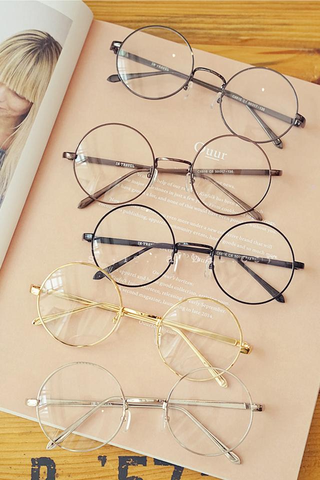 韩国圆形框架眼镜