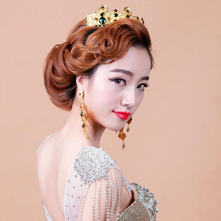 欧式复古宫廷款巴洛克新娘大皇冠结婚纱演出礼服盘发配饰品