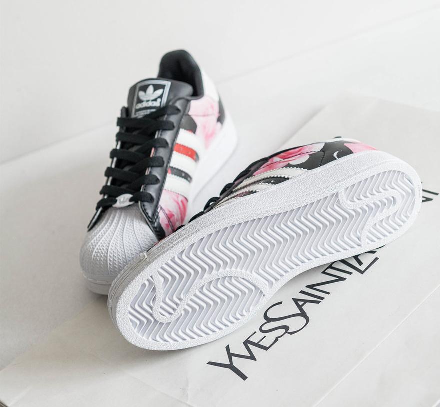 韩版阿迪达斯三叶草贝壳头玫瑰休闲运动板鞋