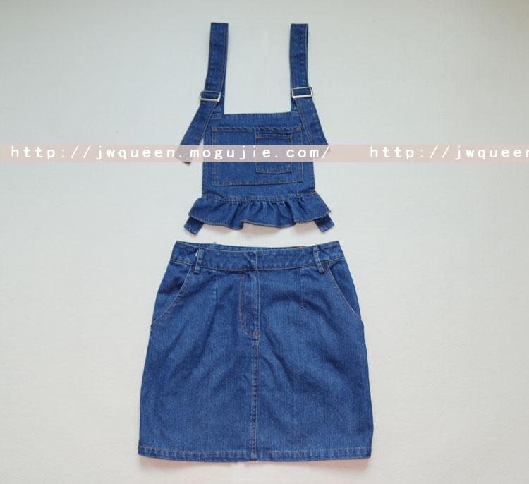 【唐嫣同款牛仔背带裙】-衣服-连衣裙