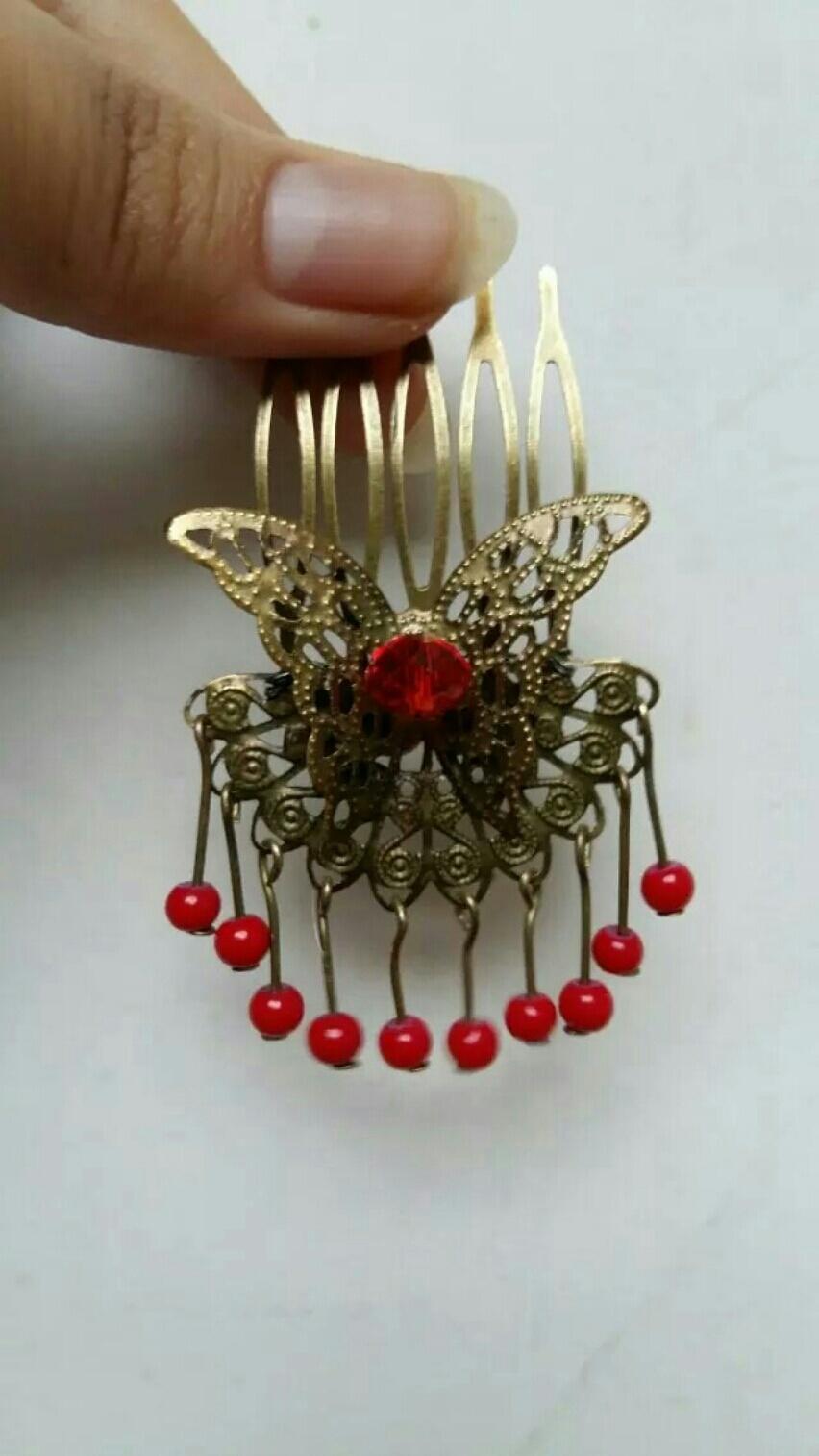 纯手工制作,铜丝缠绕后加胶定固