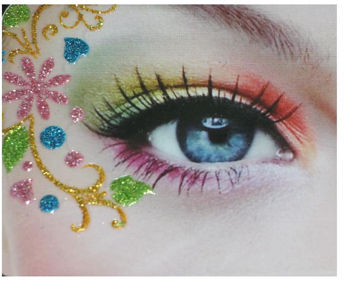 批发国际时尚奢华艺术创意化妆仿蕾丝眼妆眼贴眼线贴纸镂空眼影贴