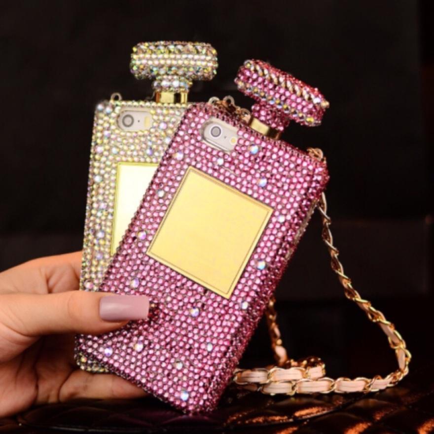 t135香水瓶彩钻手机壳iph
