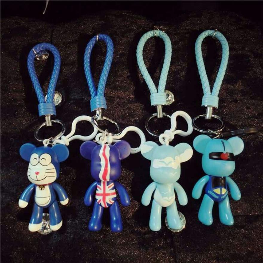 潮流暴力熊 钥匙链可爱创意韩国