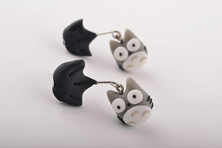 百搭创意手工软陶3d立体小动物猫头鹰耳钉耳饰 时尚个性耳环