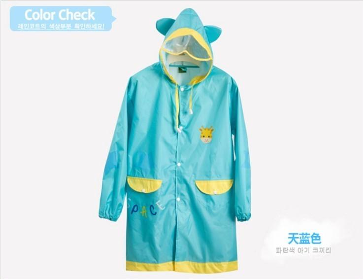 儿童带书包位雨衣卡通雨披韩国高端雨衣男女小学生时尚雨衣透气