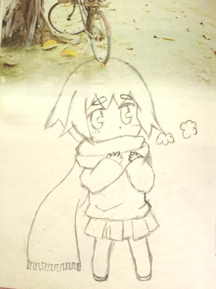 铅笔手绘q版卡通简单漫画人物