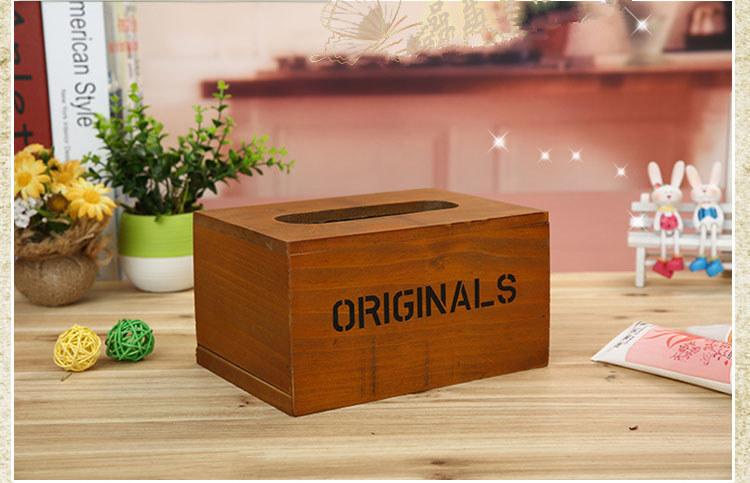 zakka木质手工制作纸巾收纳盒