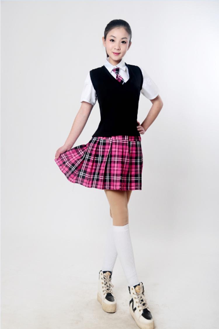 新款现代成人演出服装民族风团体表演舞蹈裙子女中学生大合唱校服